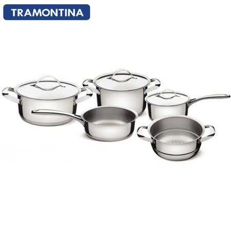 【真心勸敗】gohappyTRAMONTINA DUO 白金系列五件式鍋具組去哪買愛 買 三重
