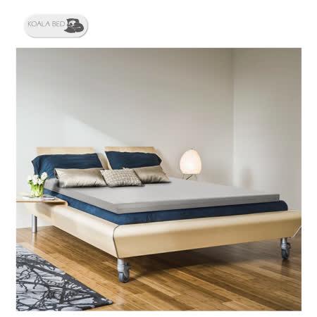 § Koala Bed § 日本大和防蟎抗菌床套竹炭記憶床墊︱高彈力支撐/全平面/10 cm厚/標準雙人/寬5尺