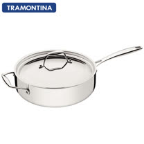 TRAMONTINA Gourmet TRIX 系列30公分單把平湯鍋5.2L