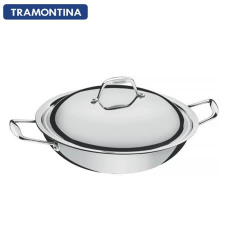 TRAMONTINA Gourmet TRIX 系列32公分雙耳炒鍋5.1L