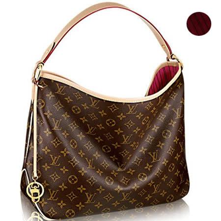 Louis Vuitton LV M50155 Delightful PM 經典花紋皮飾邊肩背包.桃紅.預購