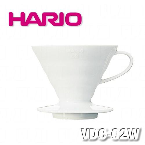 ~HARIO~V60白色02磁石濾杯1^~4杯 VDC~02W