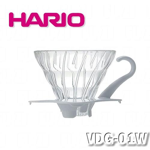 ~HARIO~V60白色01玻璃濾杯1^~2杯 VDG~01W