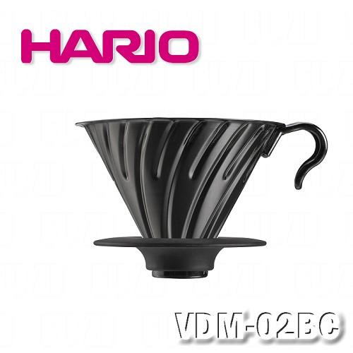 ~HARIO~V60亮黑金屬濾杯1^~4杯 VDM~02BC