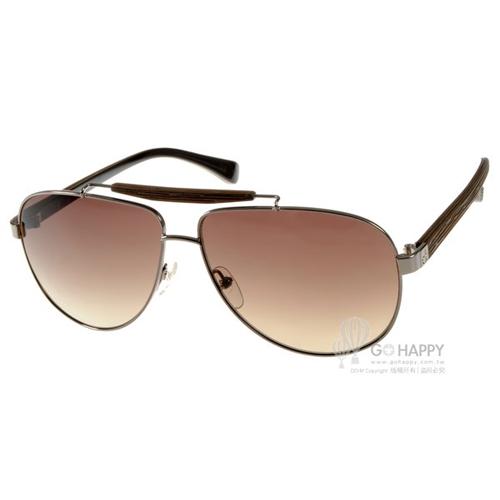 Calvin Klein太陽眼鏡 時尚潮流飛官款(銀棕) #CK1186S 031