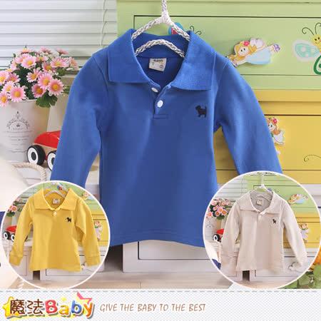 魔法Baby 嬰幼兒長袖POLO衫 k43501