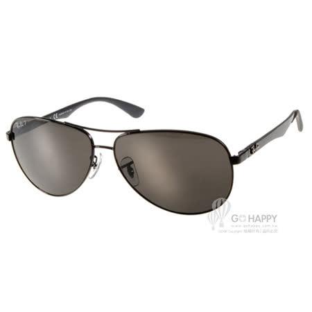 RayBan太陽眼鏡 纖維水銀鏡面偏光款(黑) #RB8313 002K7