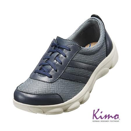【Kimo德國品牌手工氣墊鞋】雙皮料彈力綁帶輕量鞋_沉著灰(K15WF054122A)
