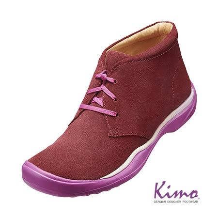 【Kimo德國品牌手工氣墊鞋】風格綁帶休閒靴_熱情紅(K15WF073087)