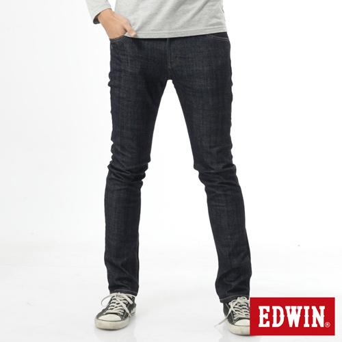 EDWIN EDGE雙層斜袋窄直筒牛仔褲-男-原藍色
