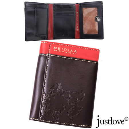 【justlove】獨家日系可愛貓10卡位零錢袋男夾女夾短夾直皮夾(共3色)BW-0053-3