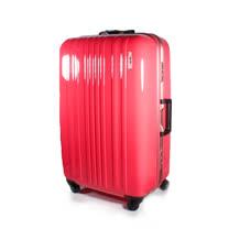 MOM JAPAN 日本品牌 25吋 亮彩系列 鋁框鏡面海關鎖旅行箱 螢光桃紅鑲金框 MF6008-25-PK