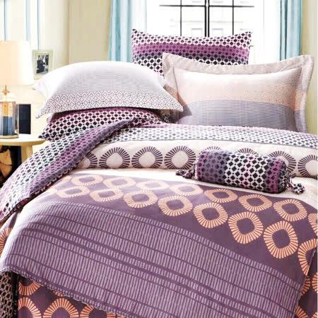 美夢元素 頂級TENCEL天絲-雙人特大七件式兩用被套床罩組 英倫情人