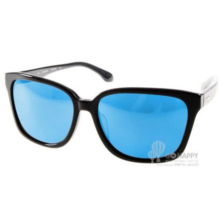 Calvin Klein太陽眼鏡 簡約風水銀鏡面款(黑) #CK4277SA 001