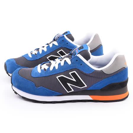 New Balance 男款 麂皮復古運動鞋ML515CCB-藍灰