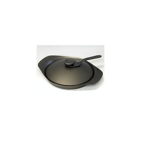 日本製 柳宗理 南部鐵器 22cm 雙耳煎盤/鐵蓋+叉子