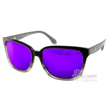 Calvin Klein太陽眼鏡 簡約風水銀鏡面款(漸層黑) #CK4277SA 372