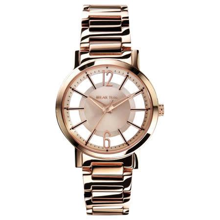 RELAX TIME RT56 輕熟風格系列鏤空腕錶-玫瑰金/36mm RT-56-9