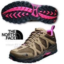 【美國 The North Face】女新款 TETSU GTX Gore-Tex 低筒登山健行鞋.多功能越野跑鞋.慢跑鞋/A2Y1 棕褐/亮桃粉