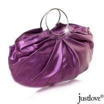 【justlove】名牌風俏麗時尚派對晚宴小包手提水餃半月包(共8色 PG-0335)