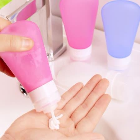 旅遊好幫手-洗髮精/沐浴露分裝矽膠瓶 60ml 旅行必備用 X 3入