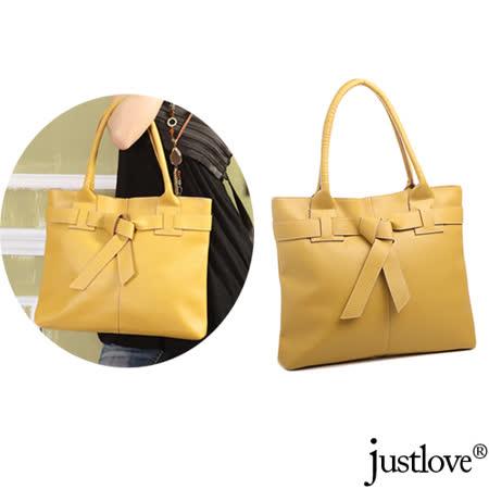 【justlove】日系荔枝紋甜美俏麗蝴蝶結肩背手提扁包方包(3色 PG-0376)