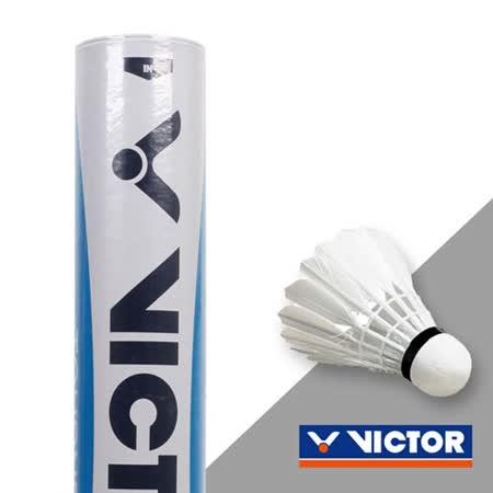 VICTOR 實用級羽球-勝利 羽球 12入 水藍標 F