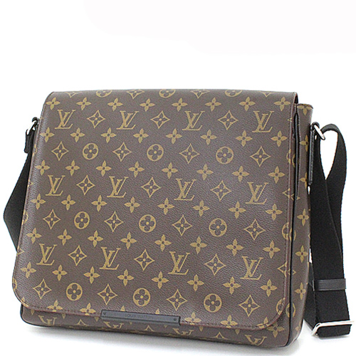 Louis Vuitton LV M40934 District MM 花紋翻蓋斜背包.