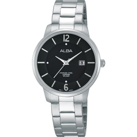 ALBA 日系簡約女錶-黑/30mm VJ22-X203D(AH7G43X1)