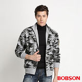 BOBSON  迷彩棒球外套 -灰 34029-42