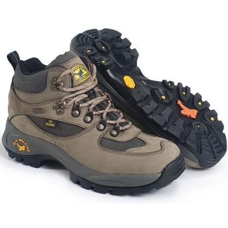 【JHS杰恆社戶外鞋登山鞋】1108卡其中筒牛皮徒步鞋旅遊鞋跑步鞋情侶鞋(FW天翔FLYWALKING)