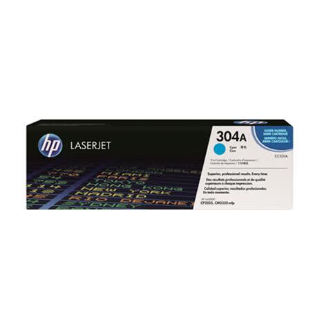 【HP 碳粉匣】CC531A/304A 藍色原廠碳粉匣/Color LaserJet CM2320fxi MFP/CM2320n