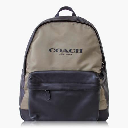 【COACH】 旅行必備 尼龍 / 背包 / 後背包_墨綠黑