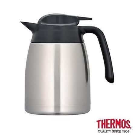 THERMOS膳魔師 不鏽鋼真空保溫壼1.0L 銀色(THV-1000)