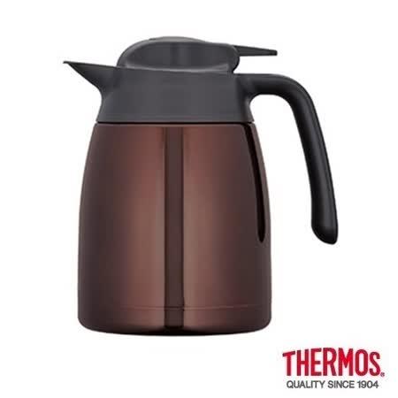 THERMOS膳魔師 不鏽鋼真空保溫壼1.0L 咖啡色(THV-1000)