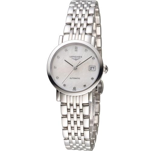 LONGINES 浪琴優雅系列真鑽機械腕錶 L43094876