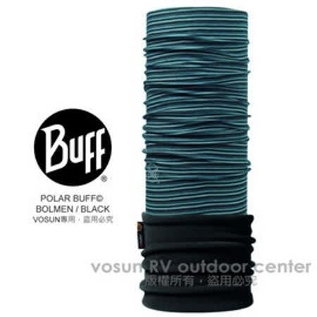 【西班牙 BUFF】POLARTEC 新改款 超彈性超細纖維保暖頭巾(排汗透氣+刷毛恆溫+抗菌除臭)可當圍巾_口罩_帽子_圍脖_柏曼灰藍 111186