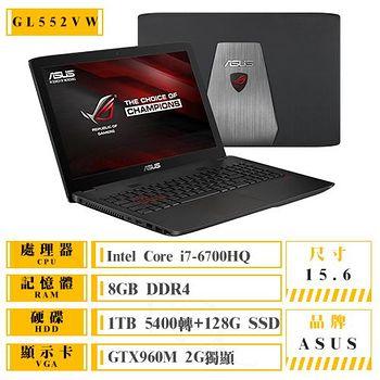 ASUS GL552VW-0061A6700HQ i7-6700HQ/1TB+128G/GTX960 電競筆電