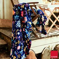 La Mode寢飾 雙人超細雪芙蓉毯(花卉)