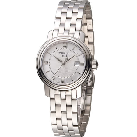 TISSOT Bridgeport 寶環系列經典女用腕錶 T0970101103800