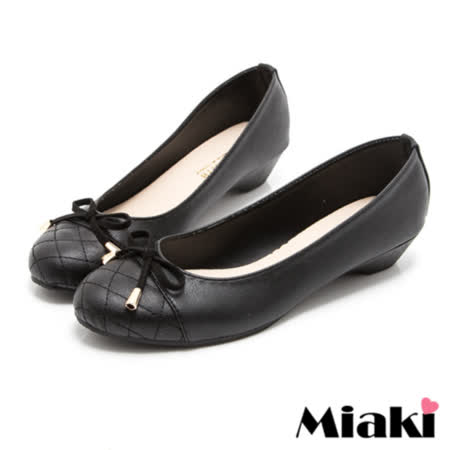 【Miaki】MIT 娃娃鞋俏麗韓版平底圓頭包鞋 (黑色)