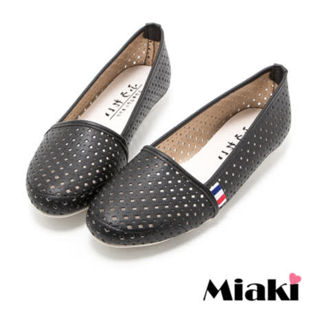 【Miaki】MIT 休閒鞋韓風透氣平底包鞋娃娃鞋 (黑色)