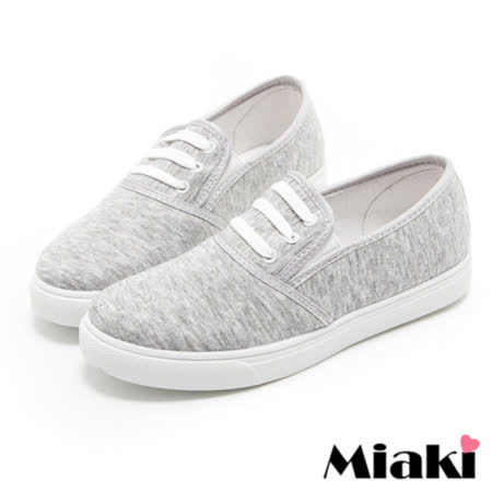 【Miaki】帆布鞋直擊首爾平底包鞋懶人鞋 (灰色)