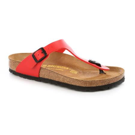 勃肯BIRKENSTOCK 043741。GIZEH吉薩 夾腳拖鞋(紅)