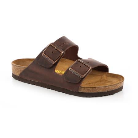 勃肯BIRKENSTOCK 052531。ARIZONA亞利桑那 經典二條拖鞋(深褐色)