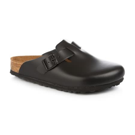 勃肯BIRKENSTOCK 060411。BOSTON 波斯頓 包頭拖鞋(黑)