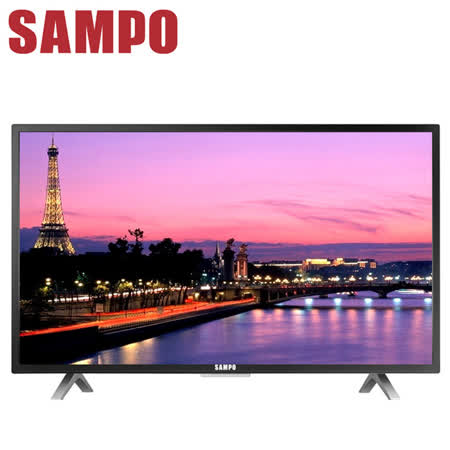 [促銷]SAMPO聲寶 32吋低藍光護眼LED液晶顯示器+視訊盒(EM-32CT16D)