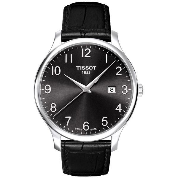 TISSOT Tradition 都會 大三針腕錶~黑42mm T063610160520