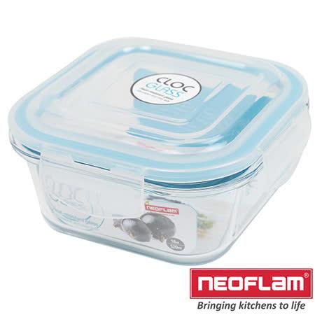 韓國Neoflam-玻璃保鮮盒-正方形0.52L