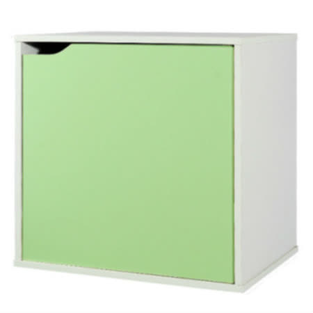 魔術方塊單門收納櫃-綠(41*28.4*40.6cm)